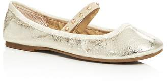 Joie Haddie Metallic Mary Jane Ballet Flats