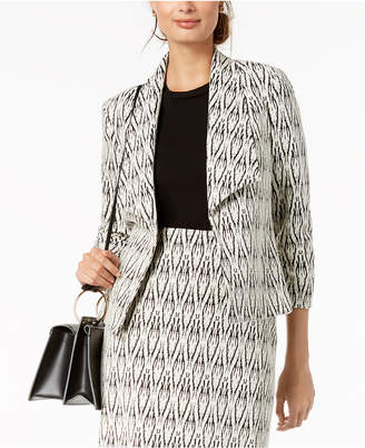 Kasper Textured Wing-Lapel Jacket