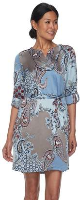 Dana Buchman Women's Satin Shirtdress