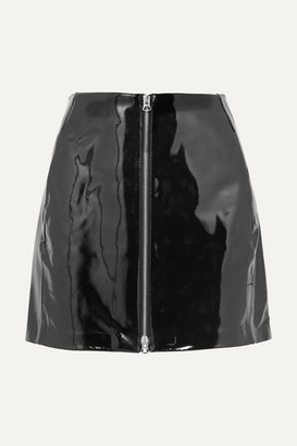 Rag & Bone Heidi Patent-leather Mini Skirt - Black