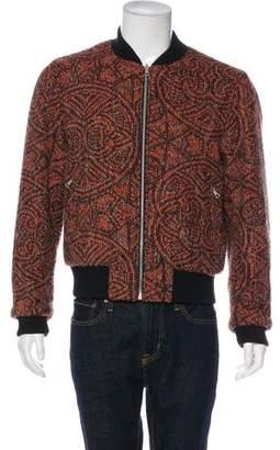 Dries Van Noten Wool Reversible Bomber Jacket