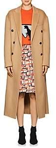 Prada Women's Brushed Wool-Blend Melton Double-Breasted Coat - Camel