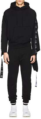 Vetements Men's Care-Label-Embellished Cotton-Blend Hoodie