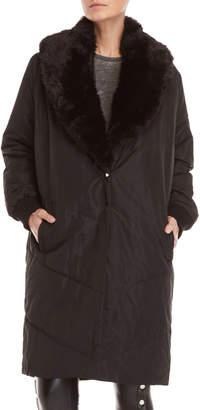 Religion Cover Faux Fur Coat