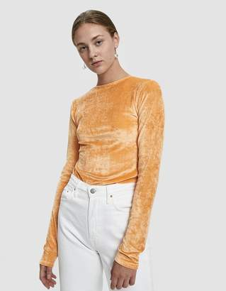 Base Range Baserange Omo Velour Long-Sleeve Tee in Luteal Peach