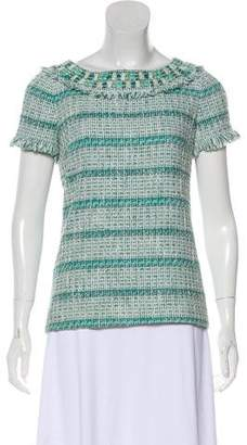 Tory Burch Embellished Bouclé Top