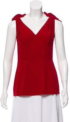 Prada Sleeveless Plunge Neck Top