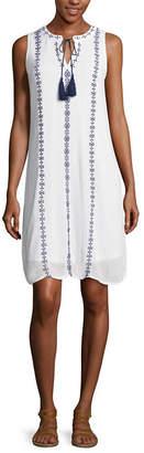 ST. JOHN'S BAY Tie Front Dress - Tall