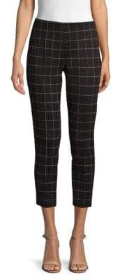 Kenneth Cole Windowpane Seamed Cropped Pants