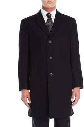 Tommy Hilfiger Black Barnes Button Coat