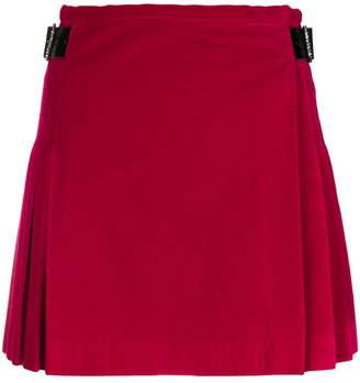 Christopher Kane velvet crystal buckle kilt