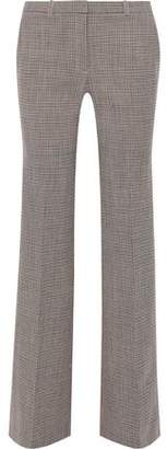 Theory Demitria Checked Wool-Blend Straight-Leg Pants