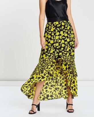 Alice + Olivia Sueann Ruffle Midi Skirt