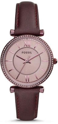 Fossil Carlie Three-Hand Lavender Leather Watch
