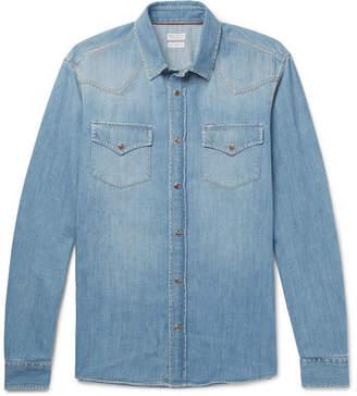 Brunello Cucinelli Denim Western Shirt - Blue