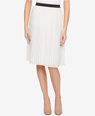 Tommy Hilfiger Pleated A-Line Skirt, Only at Macy's $79.50 thestylecure.com