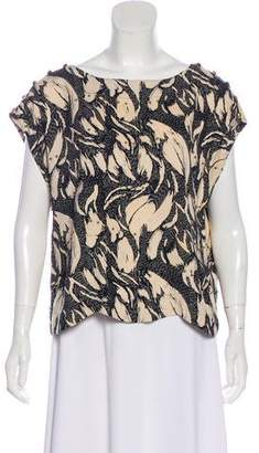 French Connection Embellished Printed Top