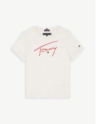 Tommy Hilfiger Signature logo organic cotton T-shirt 4-14 years
