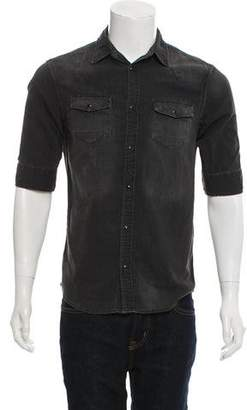 AllSaints Denim Button-Up Shirt