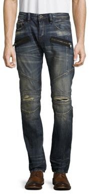 Greaser Moto Cotton Jeans $245 thestylecure.com
