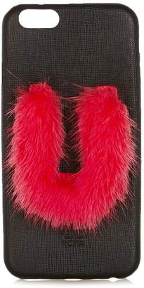 Fendi U mink-fur and leather iPhone® 6 case