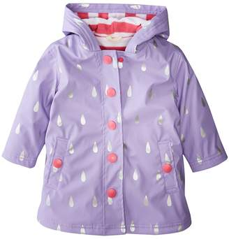 Hatley Silver Raindrops Splash Jacket Girl's Coat