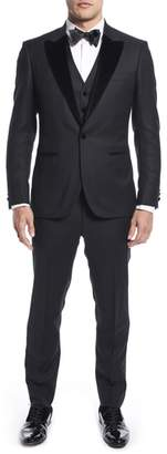 Strong Suit by Ilaria Urbinati Teddy Slim Fit Three-Piece Wool Tuxedo