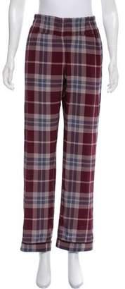 Dries Van Noten Silk High-Rise Pants