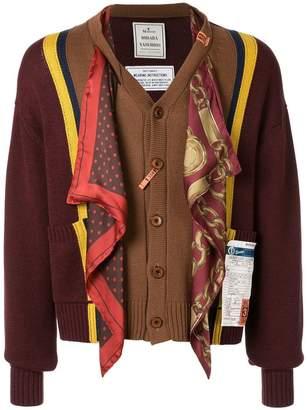 Puma Maison Yasuhiro scarf-detail cardigan