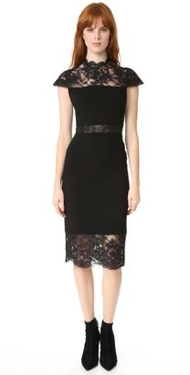 alice + olivia Kim Mock Neck Lace Dress $440 thestylecure.com