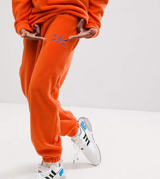 Reclaimed Vintage Inspired Pants In Orange Fleece