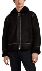 Rag & Bone Men's Sheep Shearling Flight Jacket - Black