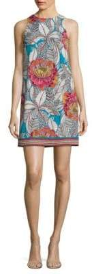Trina Turk Macee Floral-Print Jersey Shift Dress