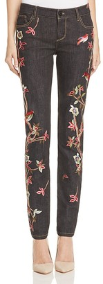 Alice + Olivia Jane Embroidered Straight Jeans $550 thestylecure.com