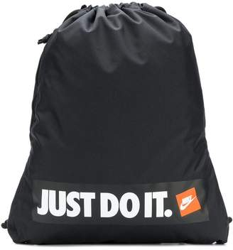 Nike branded drawstring backpack