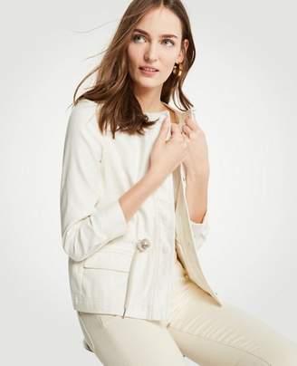 Ann Taylor Petite Drawstring Utility Jacket