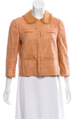 Miu Miu Lace Crop Jacket