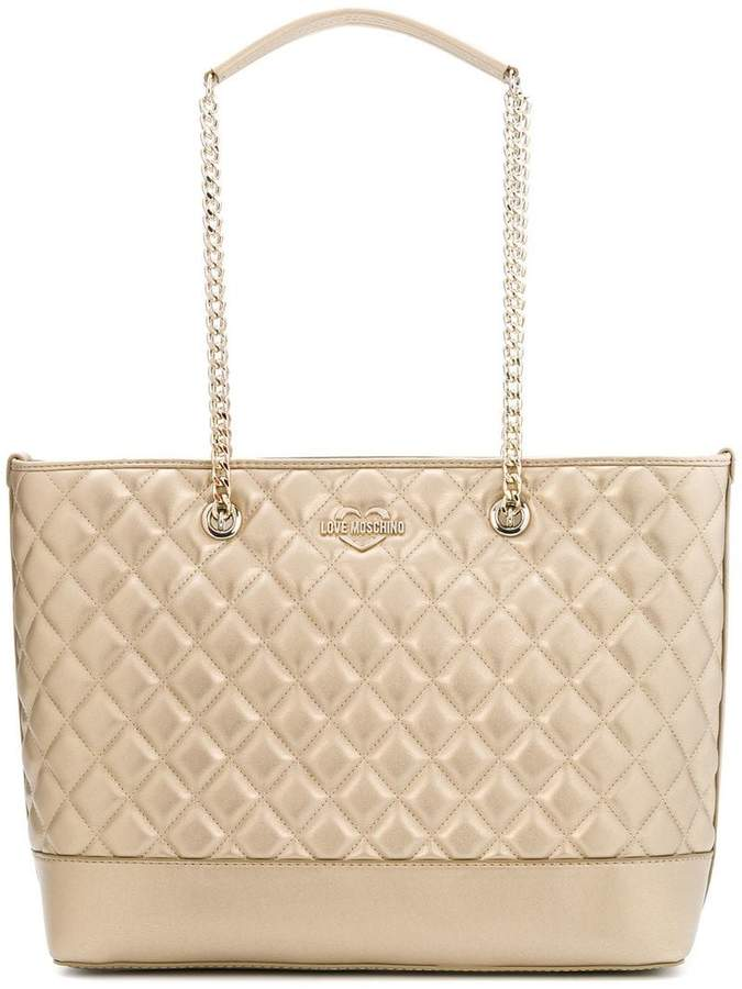 Love Moschino diamond quilted shoulder bag