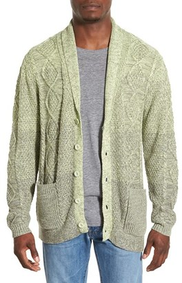 Men's Original Paperbacks 'Boston' Colorblock Mixed Knit Shawl Collar Cardigan $200 thestylecure.com