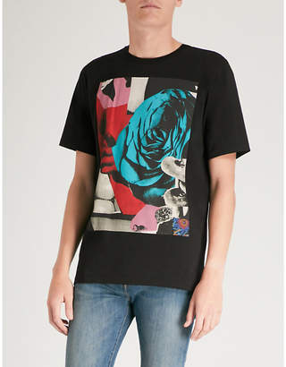 Paul Smith Rose Square-print cotton-jersey T-shirt