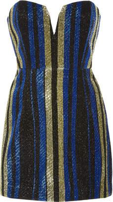 Alice McCall One World Striped Lurex Mini Dress