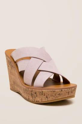 Indigo Rd Vechi Weaved Strap Wedge - Pale Pink