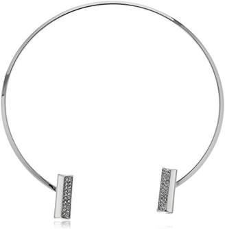 Women's Pave Bar Collar Chocker Necklace