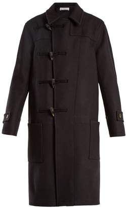 Raey Double Breasted Wool Duffle Coat - Womens - Navy