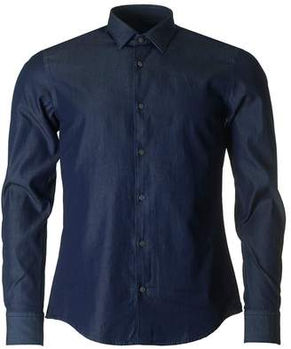 Boss Black Casual Reid Chambray Slim Fit Shirt