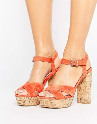 Faith Leela Platform Heeled Sandals