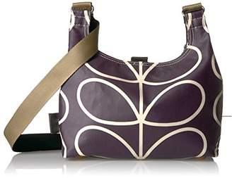 Orla Kiely Matt Laminated Linear Stem Print Mini Sling Bag