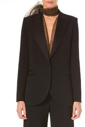Carolina Herrera Single-Breasted Wool Tuxedo Jacket