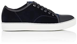 Lanvin Men's Cap-Toe Velvet Sneakers