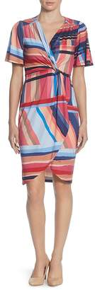 Catherine Malandrino Nyla Striped Twist-Front Dress